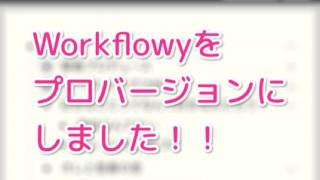 あまりに便利なので Workflowy をプロバージョンにしました