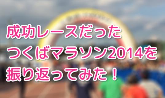 走りきったつくばマラソン2014!レース展開を振り返ってみた!