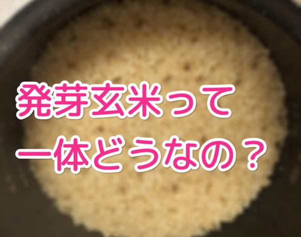 玄米食をさらに進化させるために発芽玄米はどうなの?