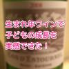 子どもとワインの成長を実感!ケース買いした息子の生まれ年ワインを、息子の小学校入学祝いに飲んでみた!